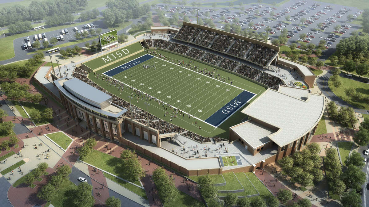 This rendering shows McKinney Independent School District's proposed high school football stadium, slated to debut in fall 2017.Click to see Texas' biggest high school football stadiums.
