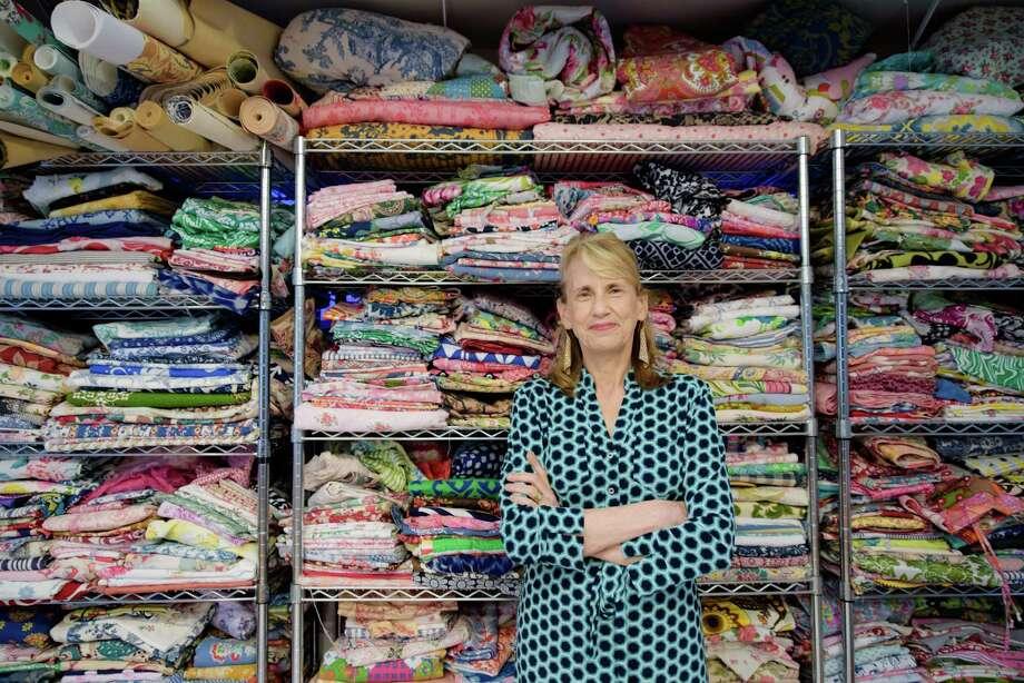 Wilton textile designer weaves vintage with vibrant for