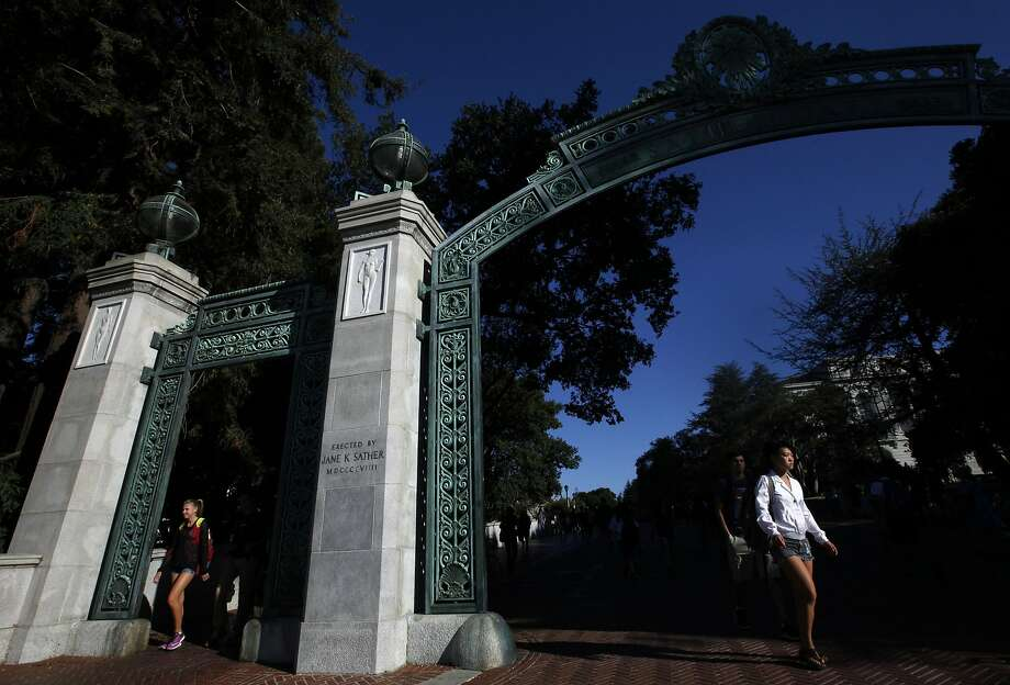 Students walk through the Sather Arch in the early morning light on the campus of the University of California at Berkeley on Sept. 9, 2015. The University has reinstated a course on the history of Palestine only days after suspending it. (Bob Chamberlin/Los Angeles Times/TNS) Photo: Bob Chamberlin, TNS