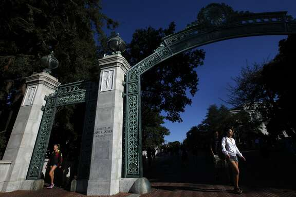 Students walk through the Sather Arch in the early morning light on the campus of the University of California at Berkeley on Sept. 9, 2015. The University has reinstated a course on the history of Palestine only days after suspending it. (Bob Chamberlin/Los Angeles Times/TNS)