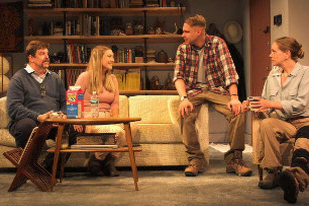 From left, Chris Foster, Allison Tebbano, Tom Templeton and Amy Lane in ?Time Stands Still? at Curtain Call Theatre. (CCT publicity photo.)
