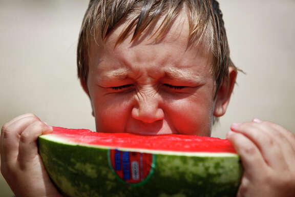 Research found that dropped wet foods such as watermelon soaked up the most bacteria. And surfaces? Carpet transferred less than tile.