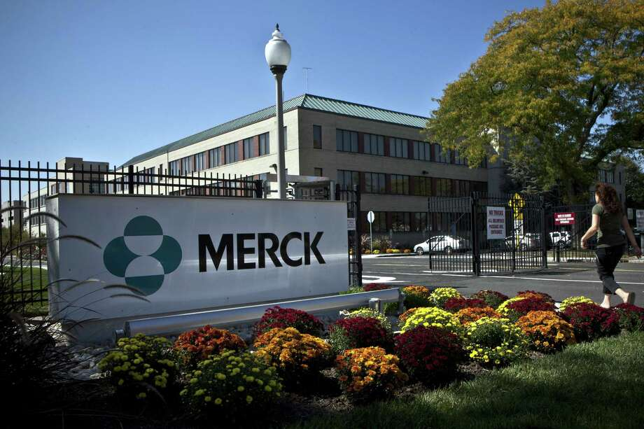 FILE  MAY 6, 2014: According to reports, Bayer agreed to buy Mercks consumer care business for $14.2 billion, May 6, 2014. SUMMIT, NJ - OCTOBER 2: A Merck sign stands in front of the company's building on October 2, 2013 in Summit, New Jersey. The pharmaceutical company Merck & Co. announced today that it would cut 8,500 jobs and consolidate its real estate in Kenilworth, New Jersey instead of moving its headquarters to Summit as previously planned. (Photo by Kena Betancur/Getty Images)  SUMMIT, NJ - OCTOBER 2:  A Merck sign stands in front of the company's building on October 2, 2013 in Summit, New Jersey.  The pharmaceutical company Merck & Co. announced today that it would cut 8,500 jobs and consolidate its real estate in Kenilworth, New Jersey instead of moving its headquarters to Summit as previously planned. (Photo by Kena Betancur/Getty Images) ORG XMIT: 183102318 Photo: Kena Betancur / 2013 Getty Images