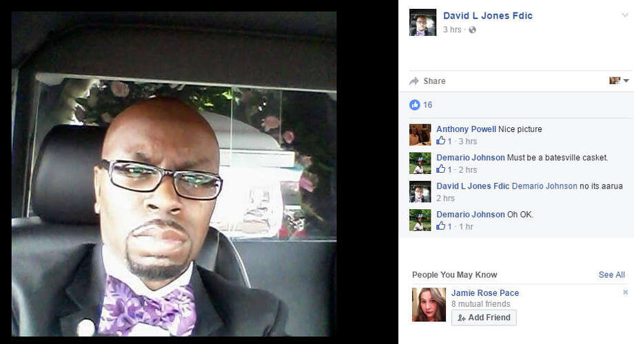 Funeral director David L. Jones is accused of taking a selfie during a funeral, according to a report.Source: Facebook Photo: Facebook / David L. Jones