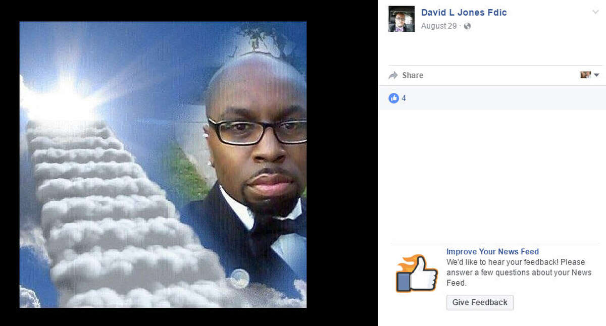 Funeral director David L. Jones is accused of taking a selfie during a funeral, according to a report. Source: Facebook