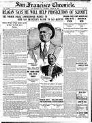 Historic Chronicle Front Page October  25, 1906  San Francisco Mayor Eugene Schmitz to be prosecuted