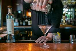 Bartender Jeff Fairbanks makes the Fog Point Vodka Martini at Epic Steak in San Francisco, Calif.  on September 19th, 2016.