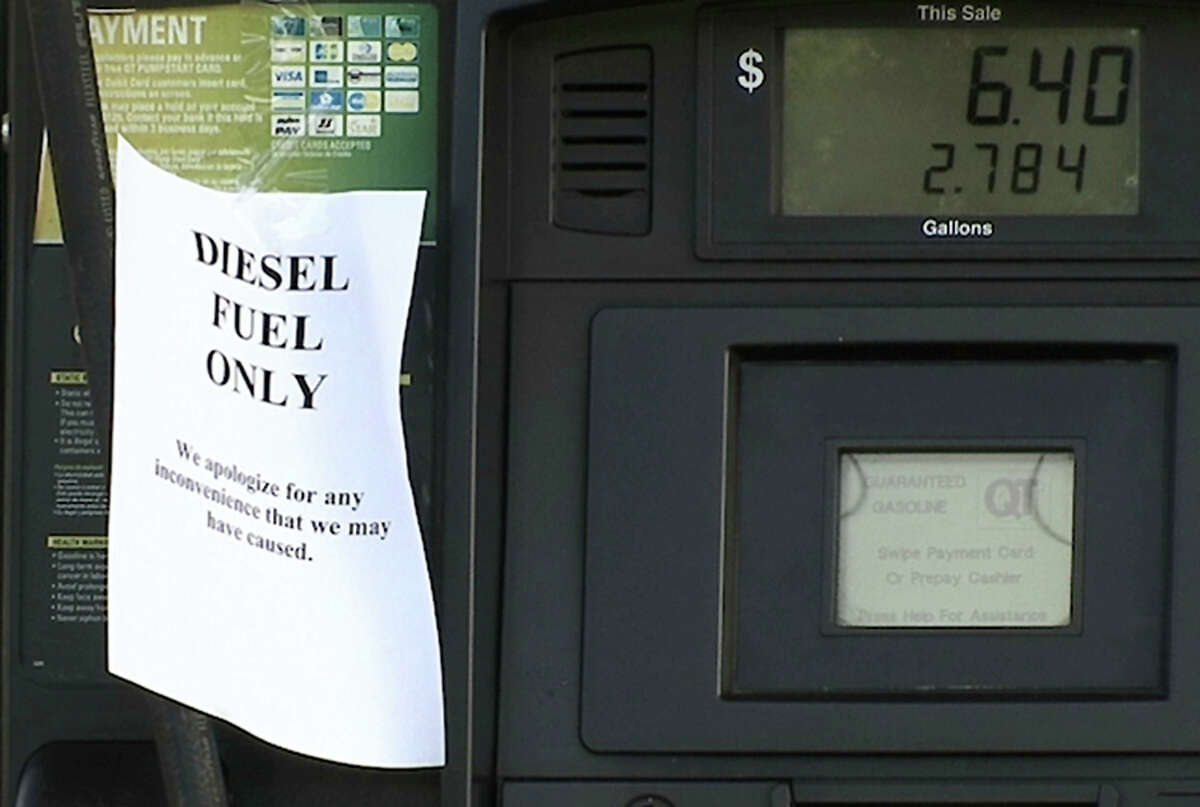 """A QuikTrip gas station pump in Duluth, Ga, is seen Monday, Sept. 19, 2016, has the store has run out of unleaded gasoline. Gasoline prices are increasing across the South following a pipeline break in Shelby County, Ala. Colonial Pipeline said it was working """"around the clock"""" to repair the break and supplies have either been delivered or are on their way to locations in Alabama, Georgia, Tennessee, South Carolina, and North Carolina. (AP Photo/Alex Sanz)"""