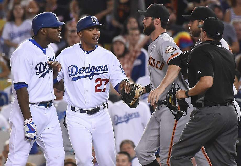 The Giants and Madison Bumgarner need to avoid a scene like this Friday night. Photo: Jayne Kamin-Oncea, Getty Images