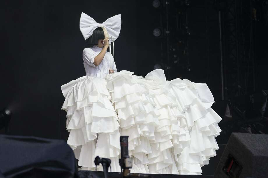 Singer Sia performs as part of the V Festival at Hylands Park, Chelmsford, England. Photo: Joel Ryan, Associated Press