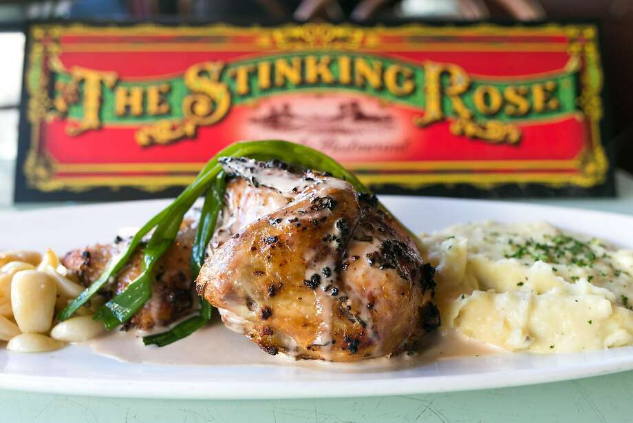 40 clove garlic chicken from the Stinking Rose in S.F. Photo: Jen Fedrizzi, Special To The Chronicle