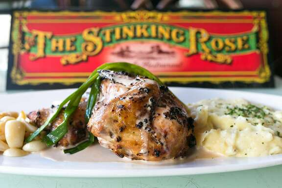 40 clove garlic chicken from The Stinking Rose in S.F.