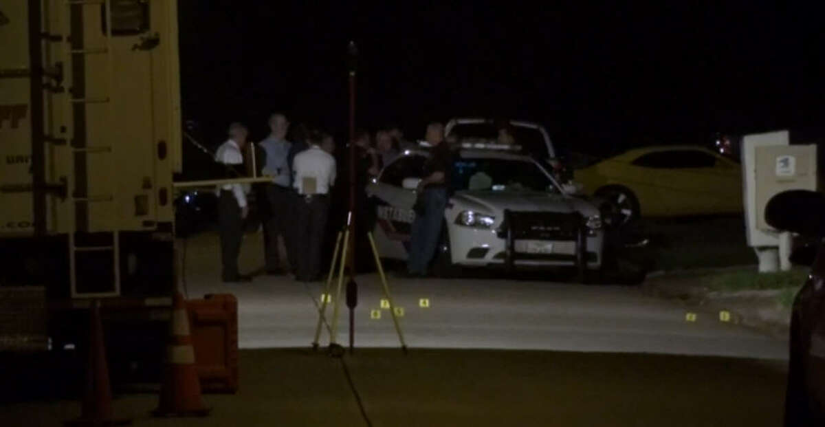 A deputy constable shot and killed a woman who pulled a gun on him and a fellow officer about 9:30 p.m. Monday, Sept. 19, 2016, along Spring Dane near Cypresswood southeast of Spring. (Metro Video)