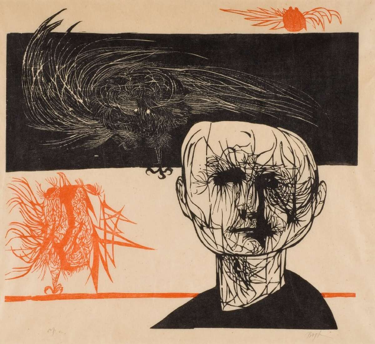 """From the Ben Ortiz and Victor P. Torchia Jr. Collection, """"Tormented Man.''"""
