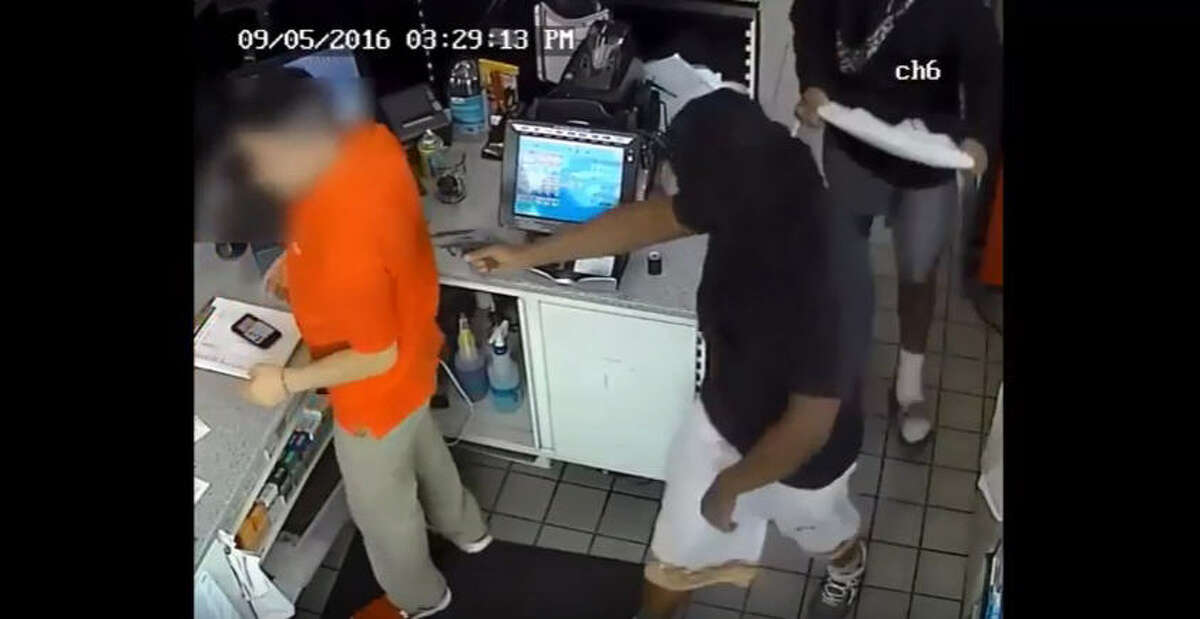 Police are searching for three men suspected in an aggravated robbery at a convenience store about 3:30 p.m. Sept. 5 at a Shell gas station at 2300 West Sam Houston Parkway North near Hammerly. (Houston Police Department)