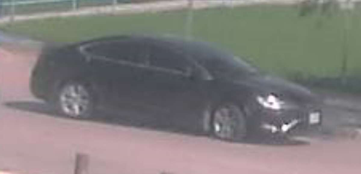 Police have released surveillance photographs of a car possibly used in an apparent