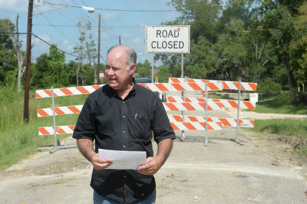 Scott Walker sold a section of his property to the City of Beaumont for the Concord Road project. Walker said Monday he was told the section would be curbed and guttered and is now upset that his property is going to be black topped. Photo taken Monday, September 19, 2016  Guiseppe Barranco/The Enterprise