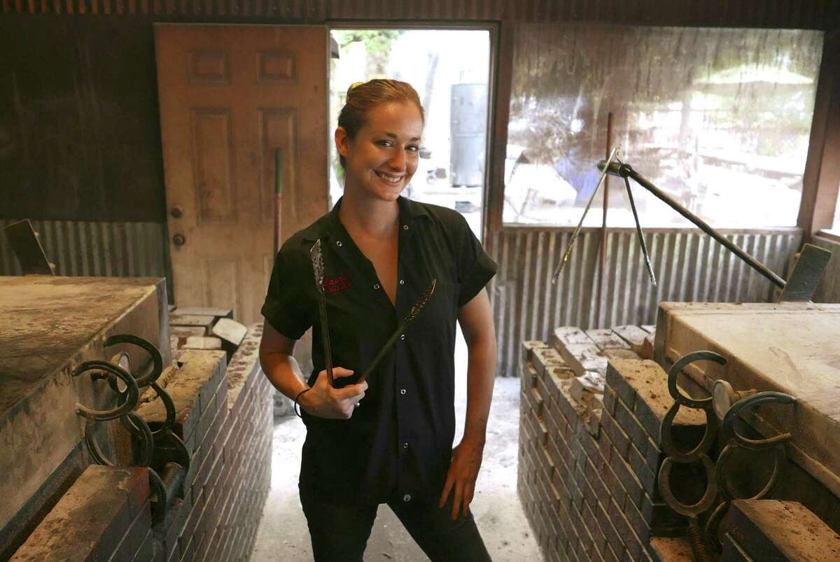 """Pitmaster Laura Loomis of Two Bros. BBQ Market in San Antonio is one of the subjects photographed in the book """"Texas BBQ, Small Town to Downtown"""" by Wyatt McSpadden."""