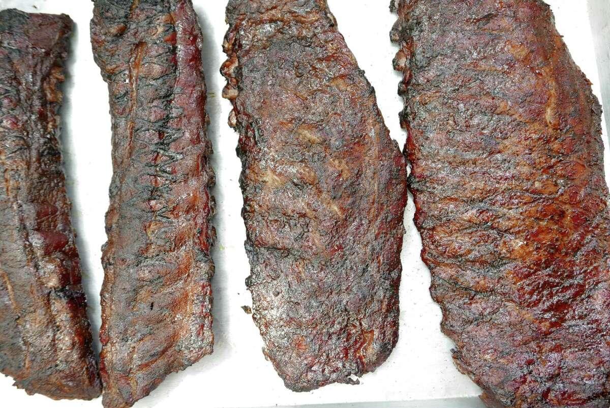Pork ribs at Two Bros. BBQ Market.
