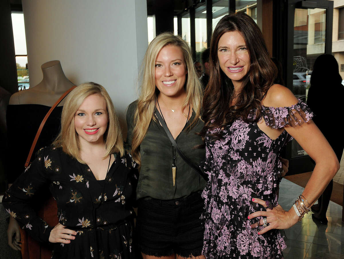 From left: Stacy Johnson, Holly Alvis and host Melissa Mithoff at the Paper City Pre-Party at The Webster Thursday Sept. 15, 2016. (Dave Rossman Photo)