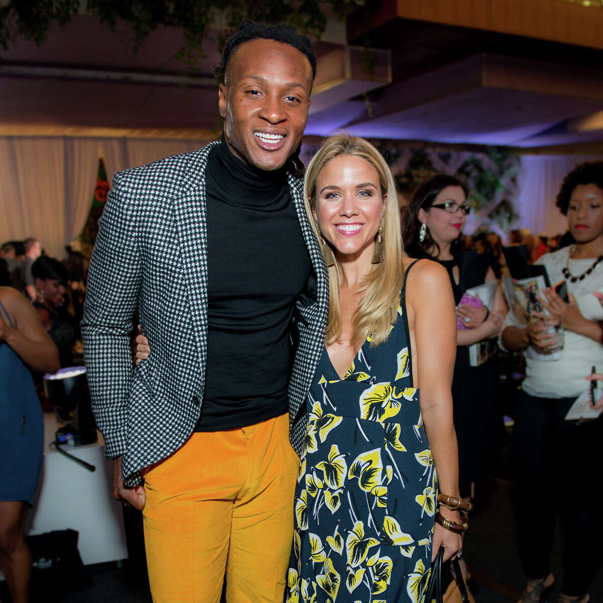 DeAndre Hopkins, wide receiver for the Houston Texans and Vogue market stylist Cara Crowley
