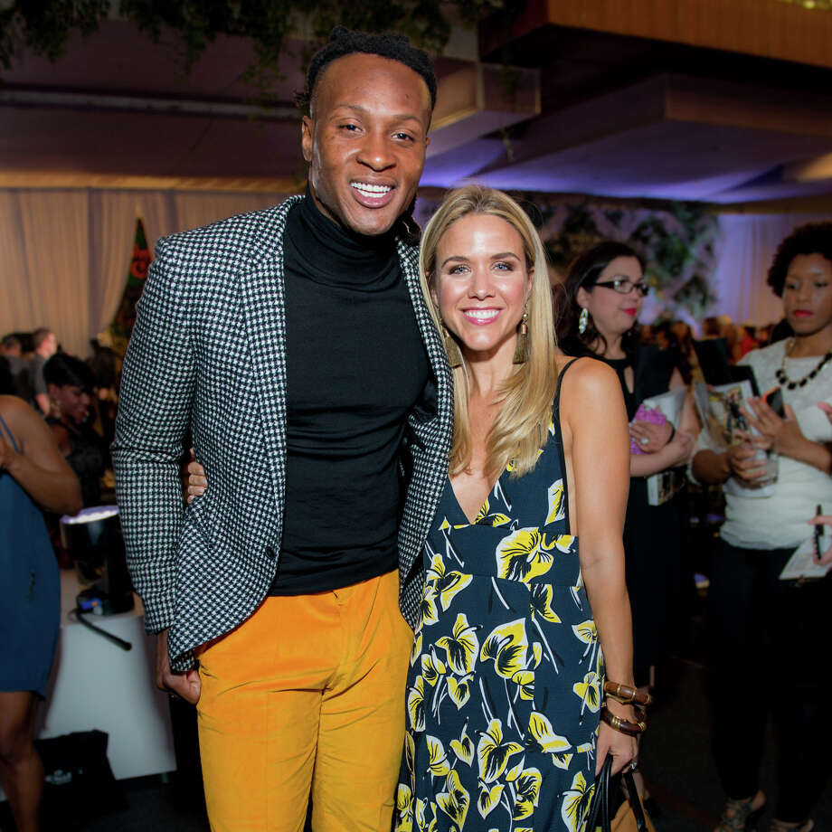 DeAndre Hopkins, wide receiver for the Houston Texans and Vogue market stylist Cara Crowley Photo: Michelle Watson / CatchLight Gro/Photo By Michelle Watson/CatchLi