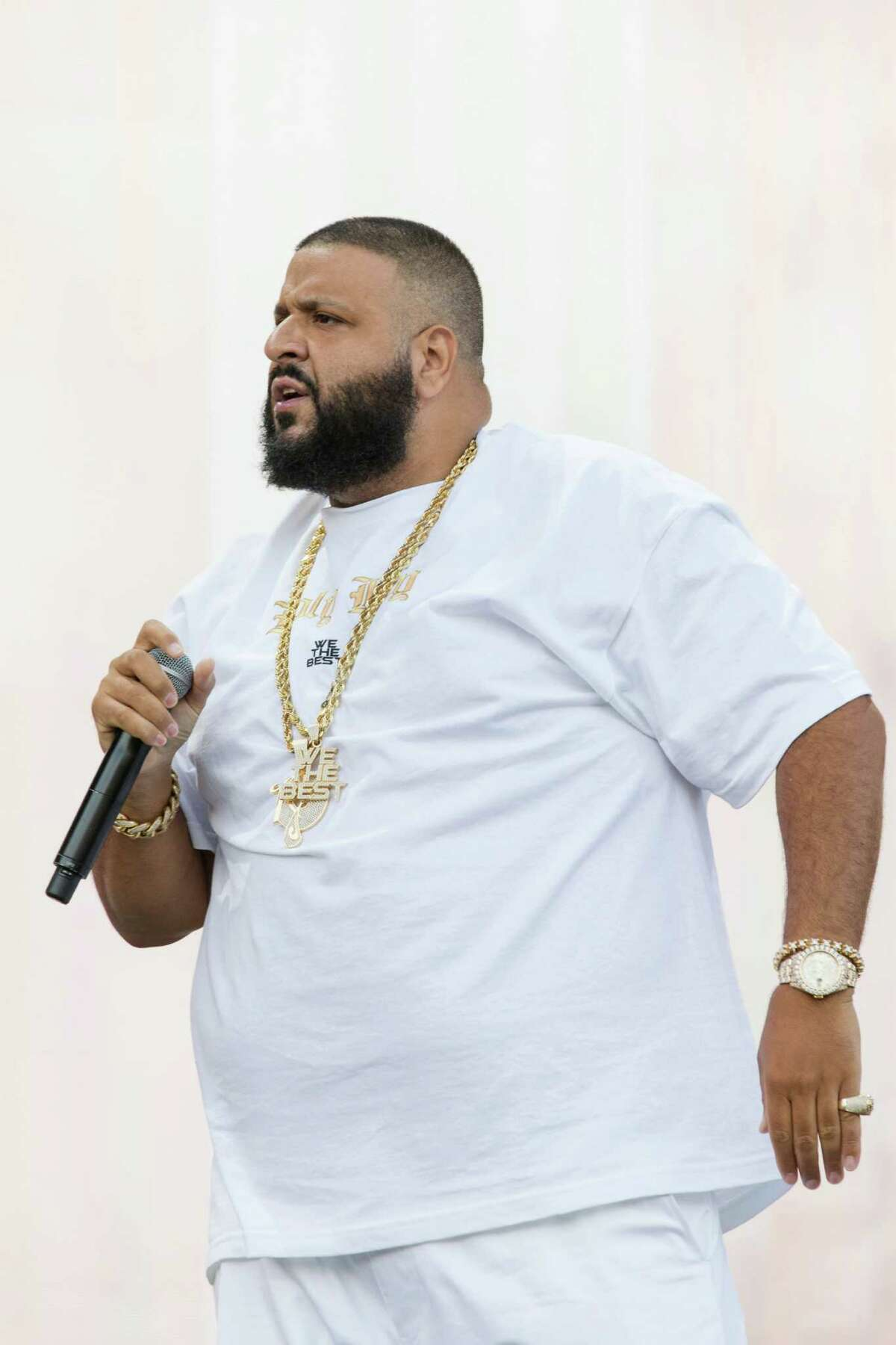 DJ Khaled performs at The Budweiser Made In America Festival on Sunday, Sept. 4, 2016, in Philadelphia. (Photo by Michael Zorn/Invision/AP)