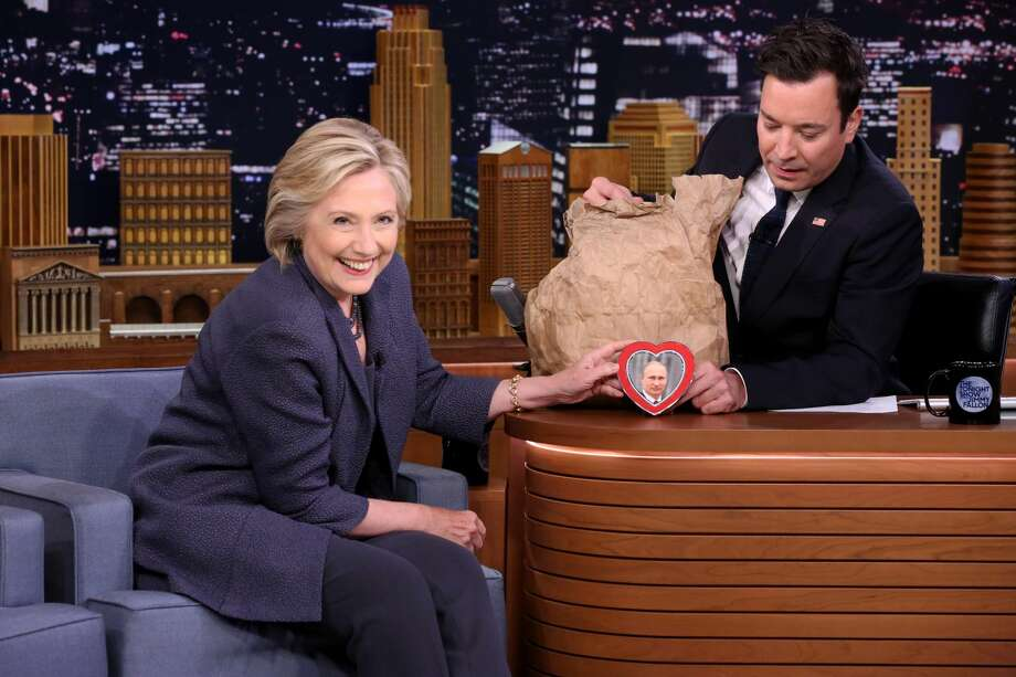 Democratic Presidential Candidate Hillary Clinton during an interview with host Jimmy Fallon on September 19, 2016 Photo: NBC/NBCU Photo Bank Via Getty Images