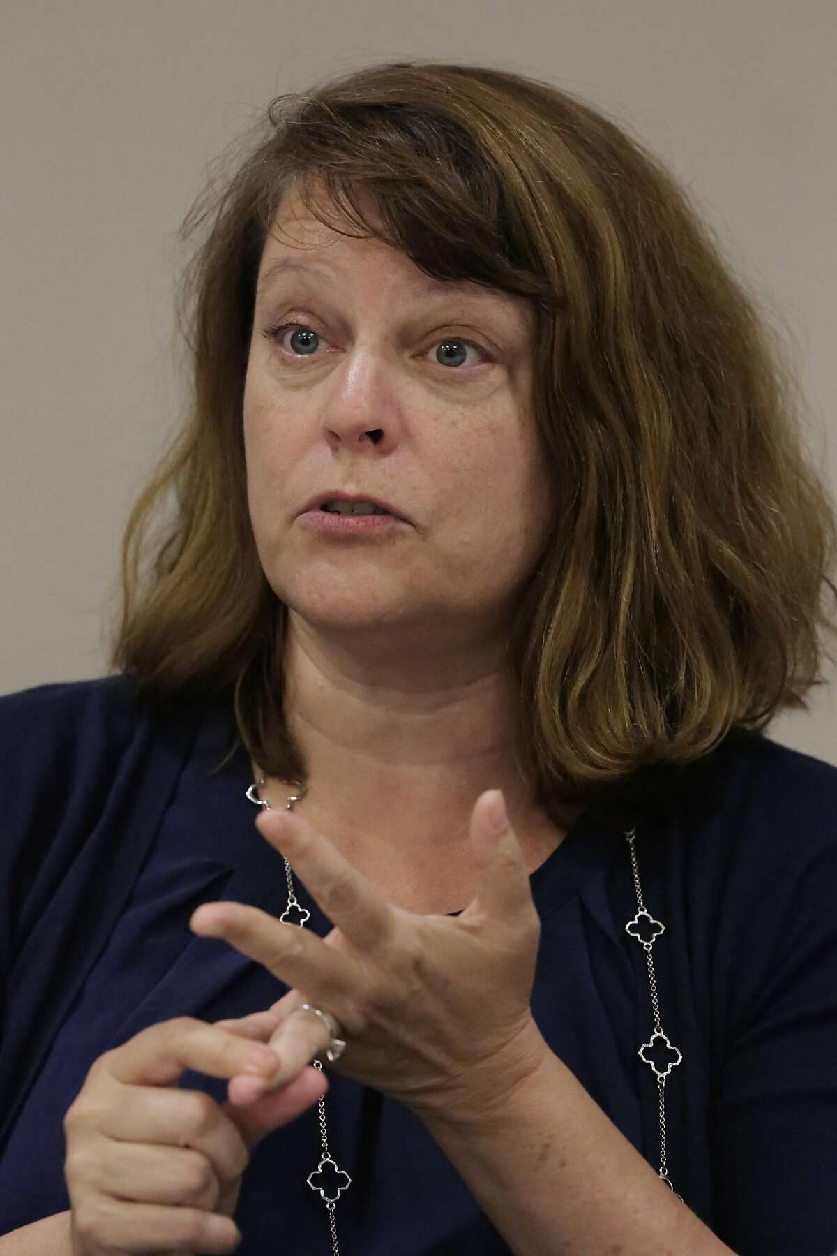 Rachel Norton, candidate for San Francisco School Board, talks to the Chronicle Editorial Board on Monday September 19, 2016 in San Francisco, California.