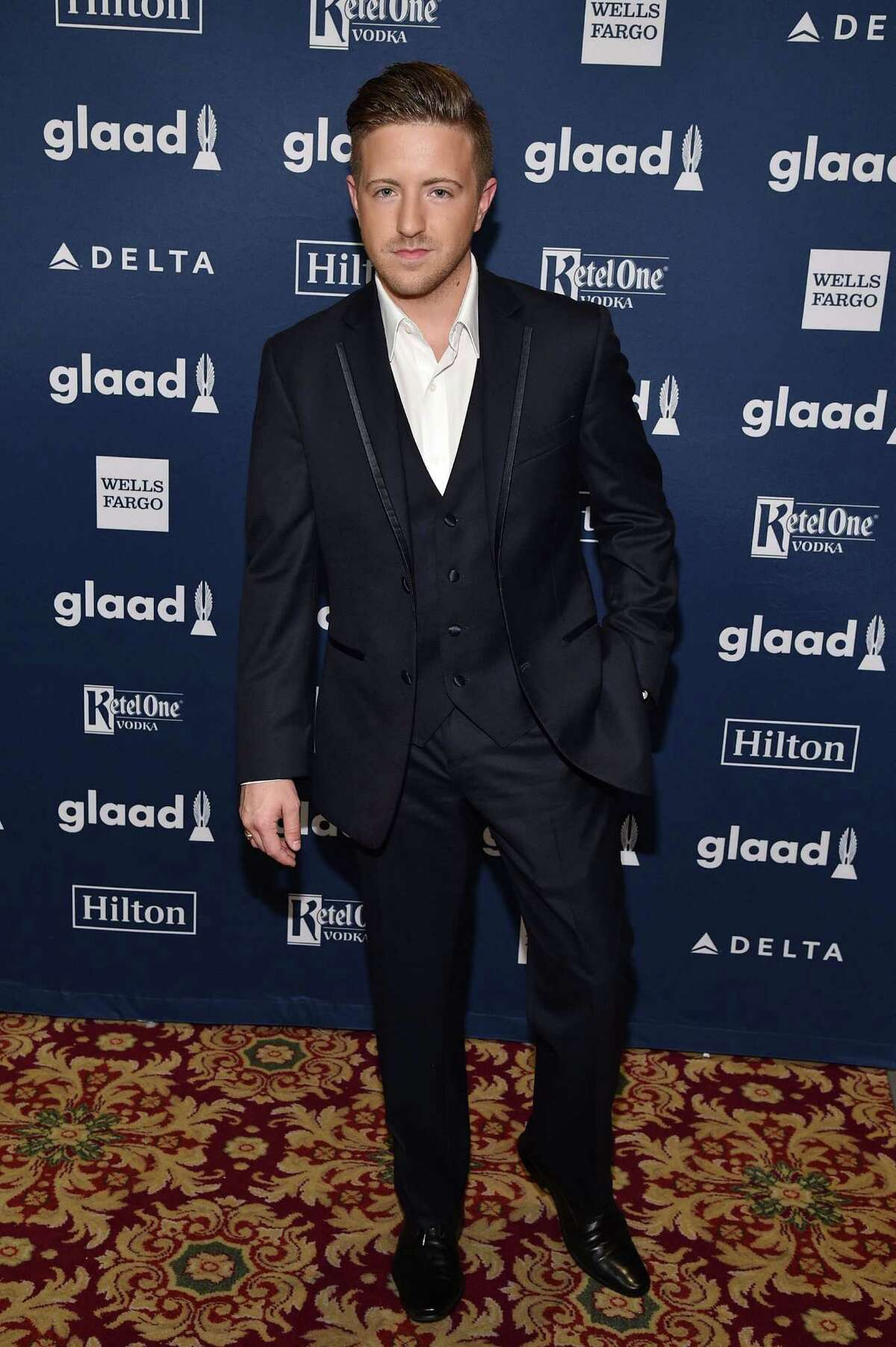 NEW YORK, NY - MAY 14: Musician Billy Gillman attends the 27th Annual GLAAD Media Awards in New York on May 14, 2016 in New York City.