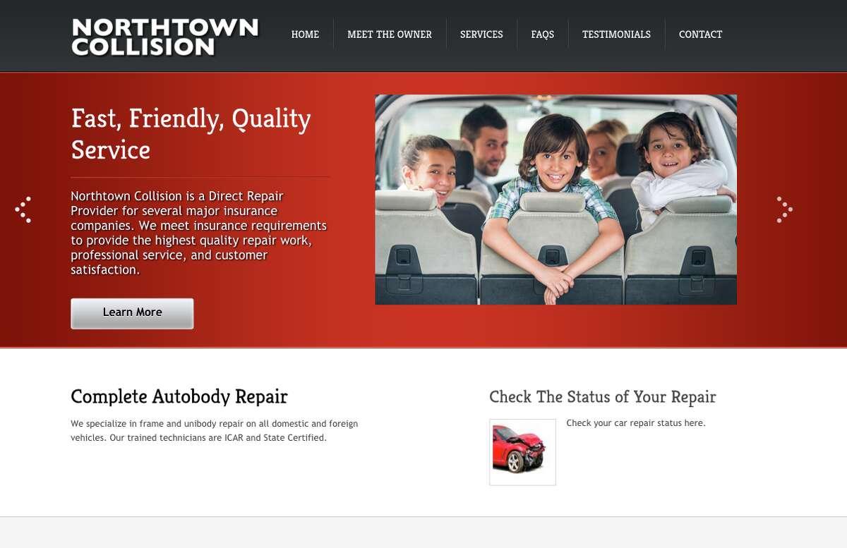Auto body shop: 1. Northtown Collision 2. Garber Chevrolet 3. Feeny Chrysler Dodge Jeep Ram