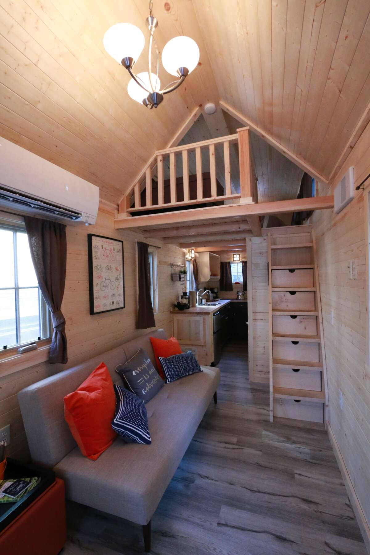 The Finn tiny house model offers campers more luxury than a tent.