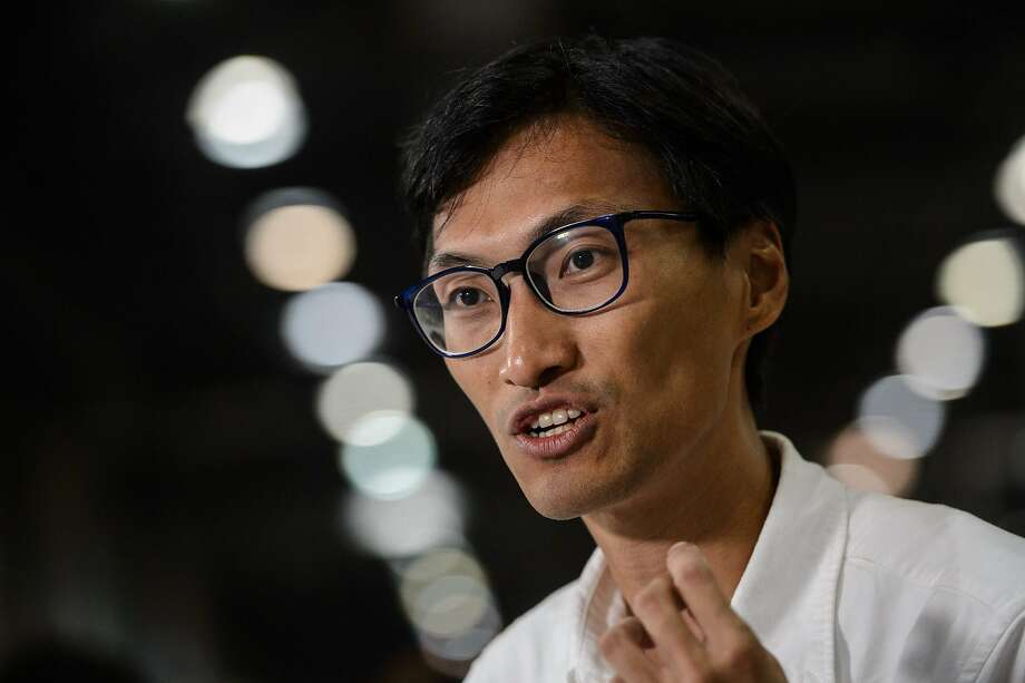 Legislator Eddie Chu advocates a break from the mainland. Photo: ANTHONY WALLACE, AFP/Getty Images