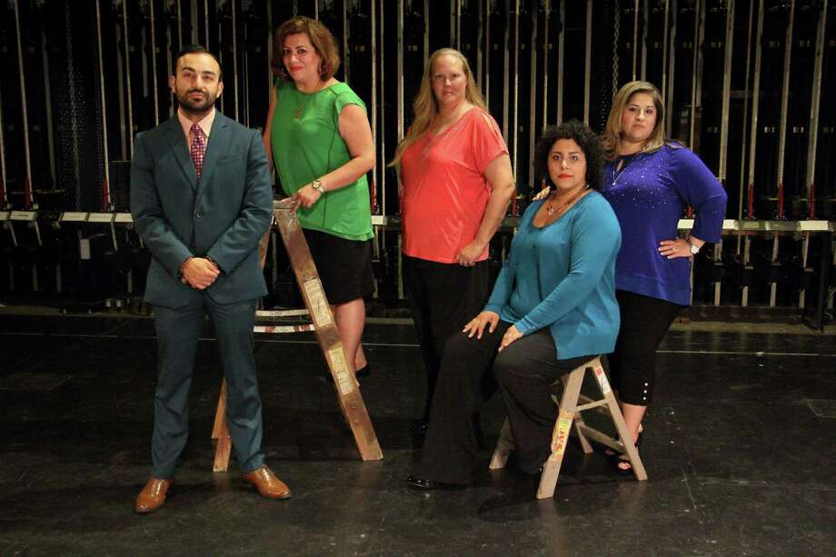 The board for Teatro Audaz San Antonio, a new theater troupe, includes Maximo Anguano (from left), Paula Rodriguez, Shelley Buchaus, executive director Alison Vasquez and artistic director Laura Garza. Photo: Courtesy Rene Vasquez