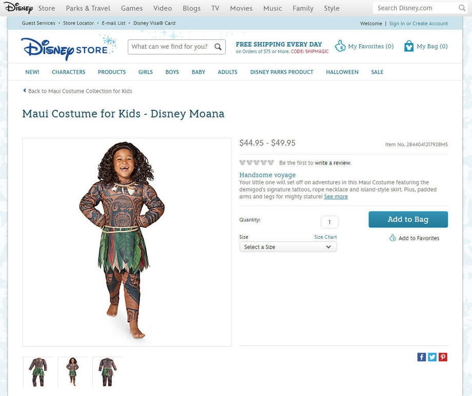 photos racist culturally insensitive halloween costumescritics say this costume in the disney store