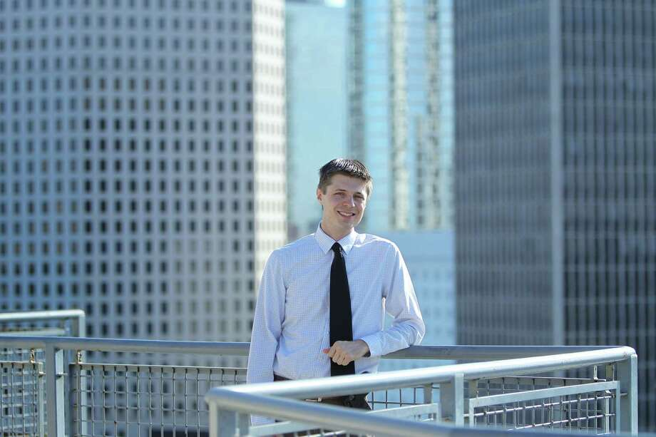 Peter Bryn is the conservative outreach director for the Citizens' Climate Lobby, which is leading the charge poses for a photo Tuesday, Sept. 13, 2016, in Houston. A grassroots push to get conservatives to support a carbon tax. Photo: Steve Gonzales, Houston Chronicle / © 2016 Houston Chronicle