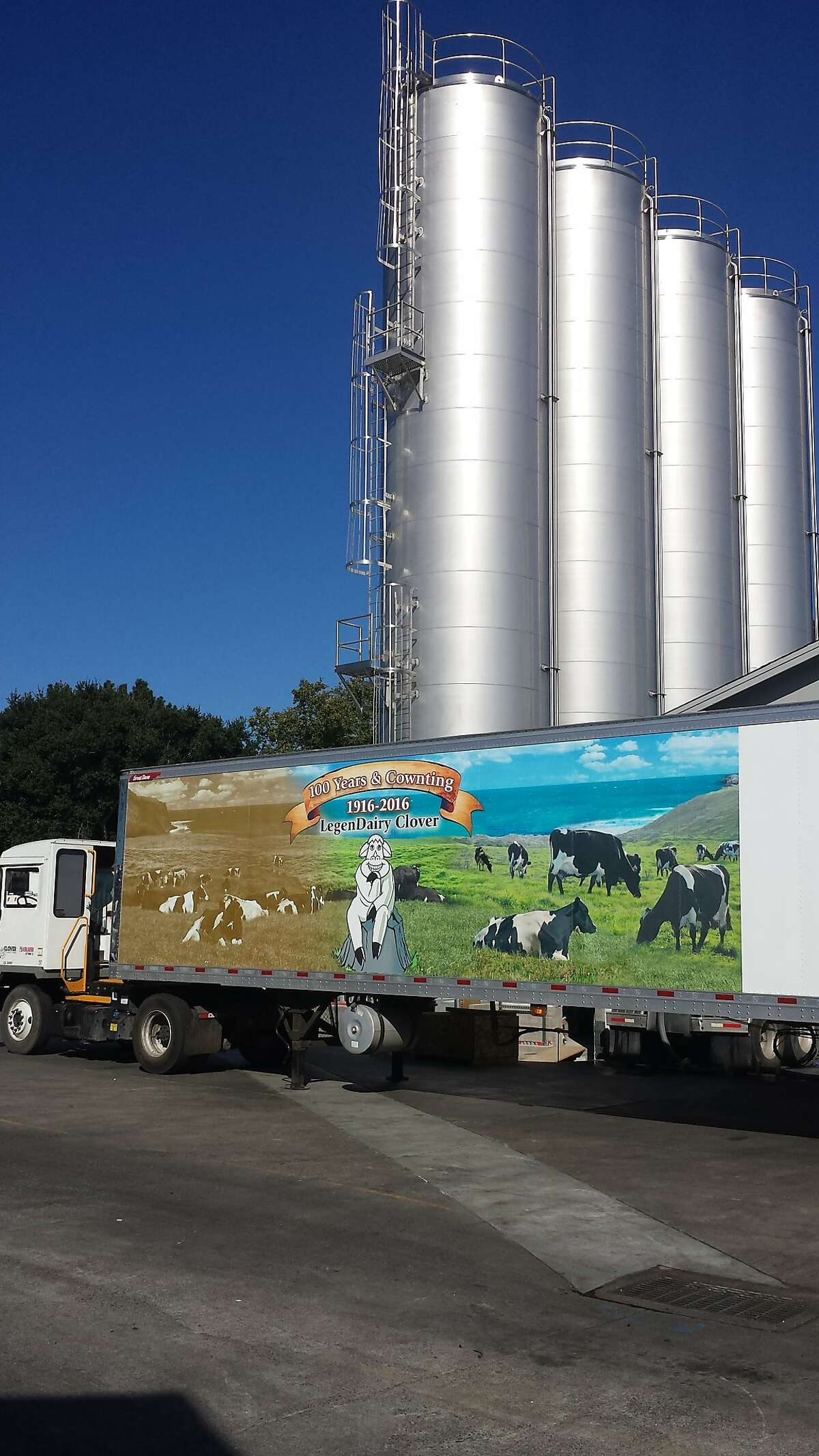 At Clover, different silos contain different feeds, including non-GMO feed.