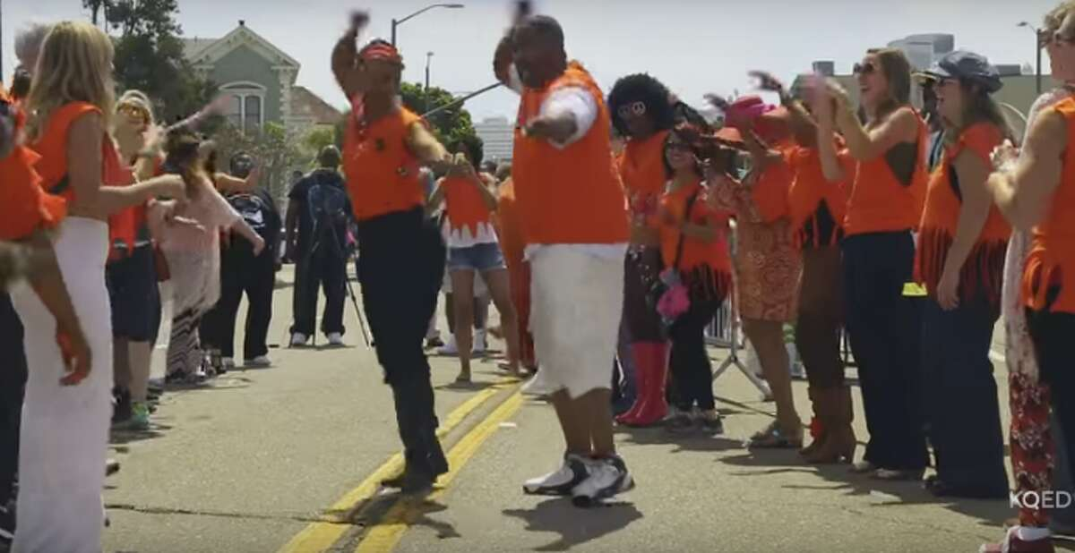 Longest soul train ever: On July 2, 2015, 337 dancers took to the Oakland streets and blew away the last certified record held by Philadelphia. Watch the KQED video.