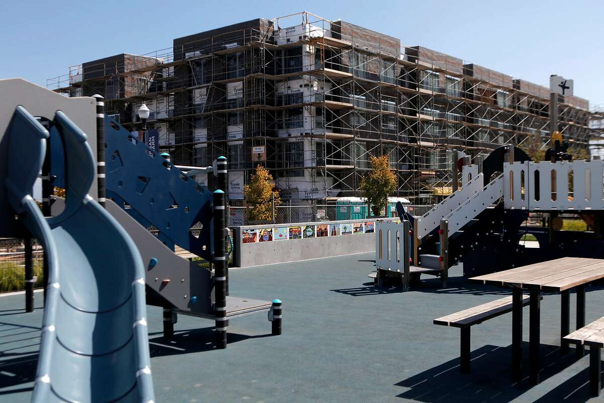 Construction at the San Francisco Shipyard housing development in San Francisco, California. The state legislature passed a number of bills in 2017 to ease California's housing crisis.