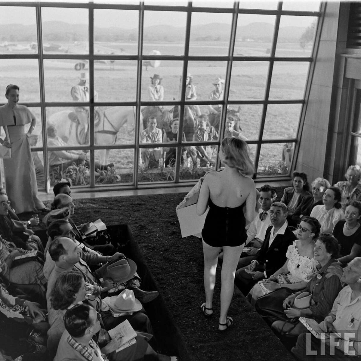 Life magazine-found on the internet,Grand Opening of the Flying L Ranch Called a Fashion Rodeo by Stanley Marcus of Neiman Marcus
