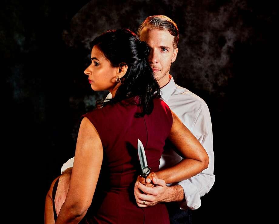Radhika Rao as Lady Macbeth and Teddy Spencer as Macbeth. Photo: Gregg LeBlanc, Arabian Shakespeare Festival