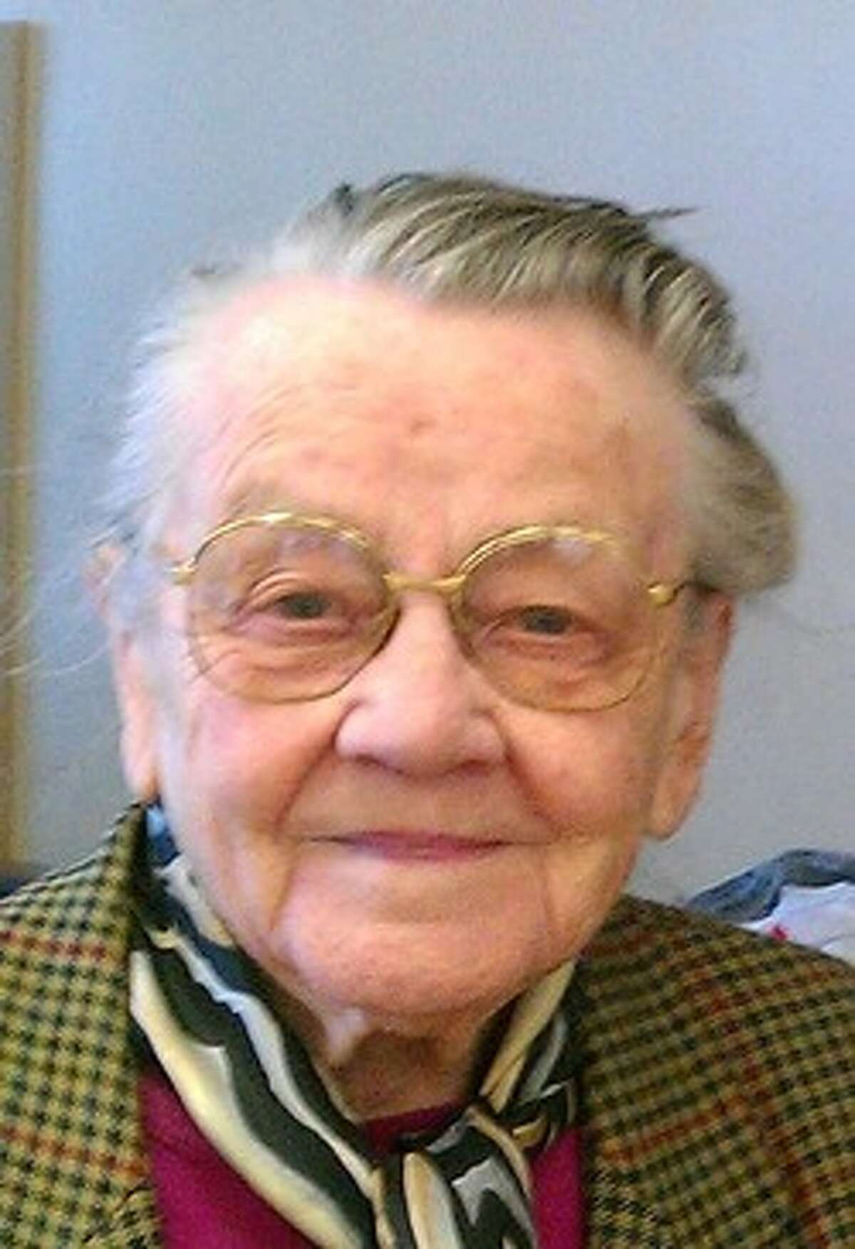 Maria F. Wehage Hoyer was detained in a camp with other German civilians after WWII.