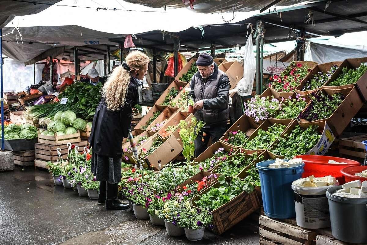 The Green Market in Pristina.