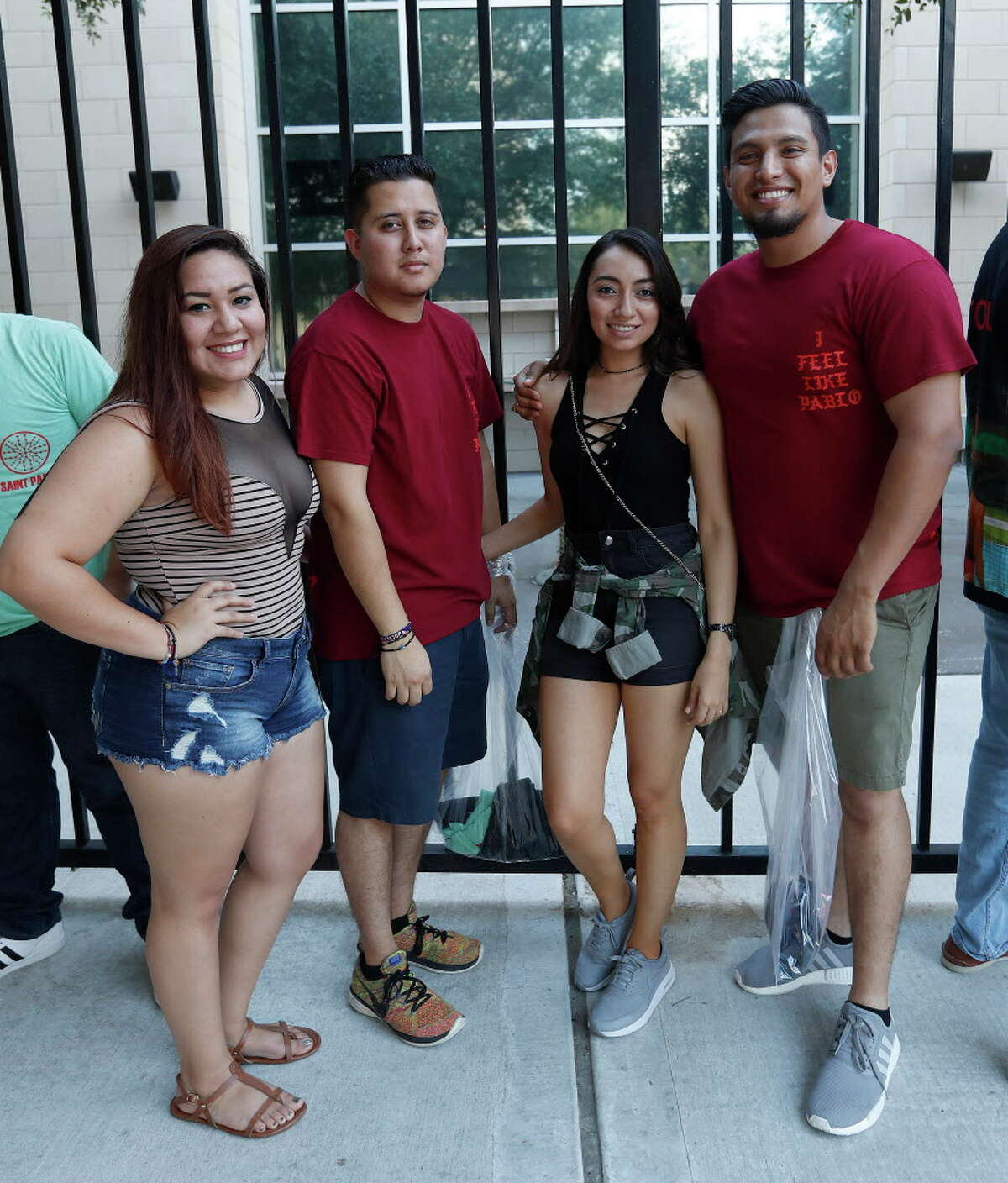 Fans line up for the Kanye West concert at Toyota Center, Tuesday, Sept. 20, 2016 in Houston. Click through for more photos from the show.