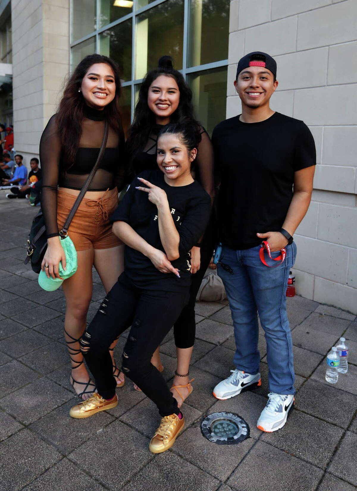 Fans line up for the Kanye West concert at Toyota Center, Tuesday, Sept. 20, 2016 in Houston.
