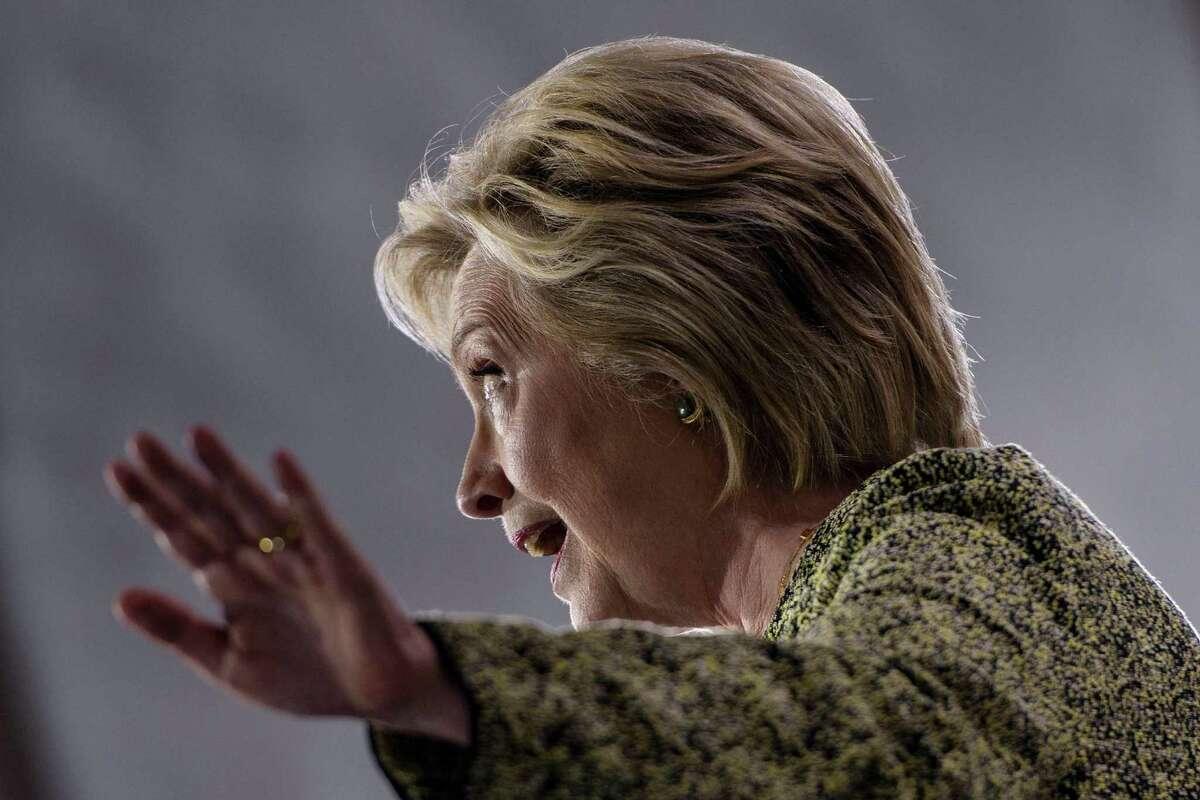 Democratic presidential nominee Hillary Clinton speaks at Temple University on September 19, 2016 in Philadelphia, Pennsylvania. (Brendan Smialowski/AFP/Getty Images)
