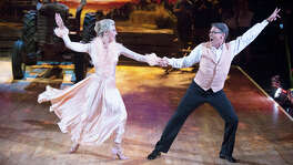 "Rick Perry and Emma Slater perform during the second week of ""Dancing with the Stars."" Now out of the contest, Perry had been the target of much mocking and derision, but a reader tells him to hang in there."