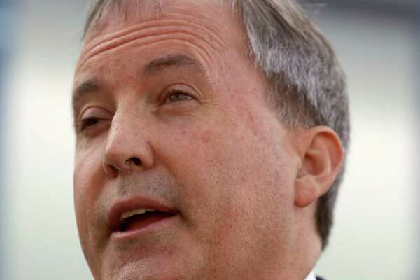 Texas Attorney General Ken Paxton speaks during a news conference Thursday Sept. 1, 2016 in San Antonio about how Texas is combating human trafficking through a joint effort by Truckers Against Trafficking and the trucking industry, the Texas Attorney Generalé•s Human Trafficking  and Transnational/Organized Crime section, and local and state law enforcement agencies.