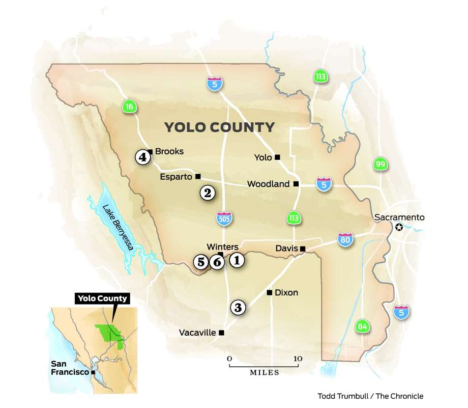 Follow The Foragers A Chefs Tour Of Yolo County Farms SFGate - Map of chefs in us