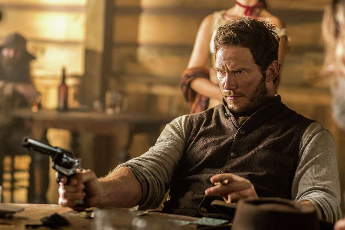 """In this image released by MGM/Columbia Pictures, Chris Pratt appears in a scene from, """"The Magnificent Seven."""" (Sam Emerson/MGM/Columbia Pictures/Sony via AP)"""